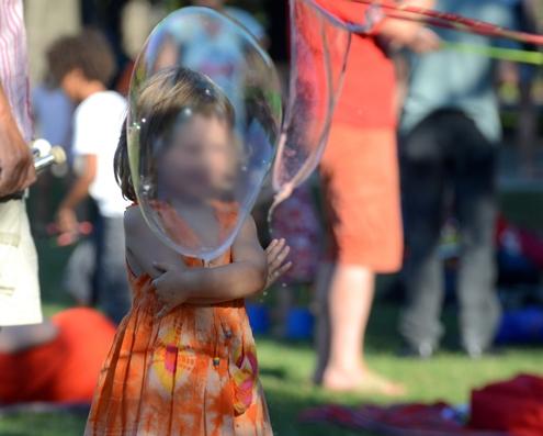 Riesenseifenblasen Showeinlage
