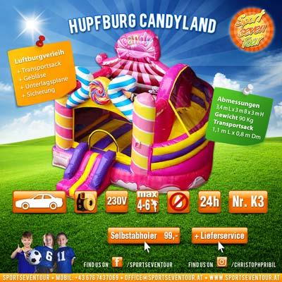 Hüpfburg Candyland