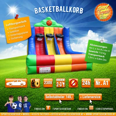 Basketballkorb Spielstation