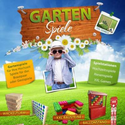 Gartenspiele mieten Riesenspiele