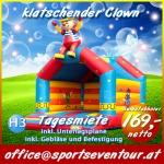Hupfburg Klaschender Clown Hüpfburg Verleih