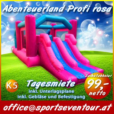 Hüpfburg Abenteuerland pro rosa