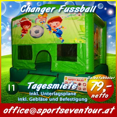 Hupfburg Kleinkinder Fussball