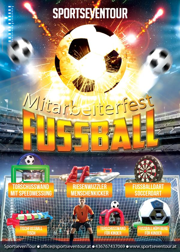 Mitarbeiterfest Firmenfeier Fussball Spiele