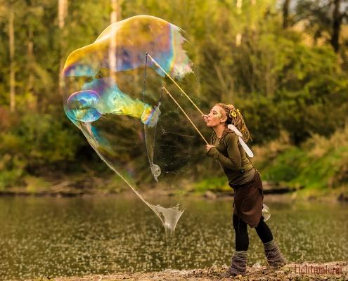 Riesenseifenblasenshow